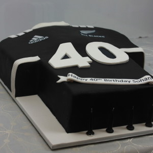All Blacks  football jersey cake