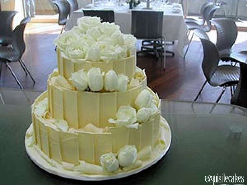 Tier White Chocolate Wedding Cake