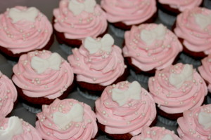 cupcakes pink and bows