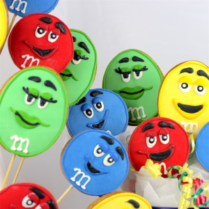M&M's Cookie pops