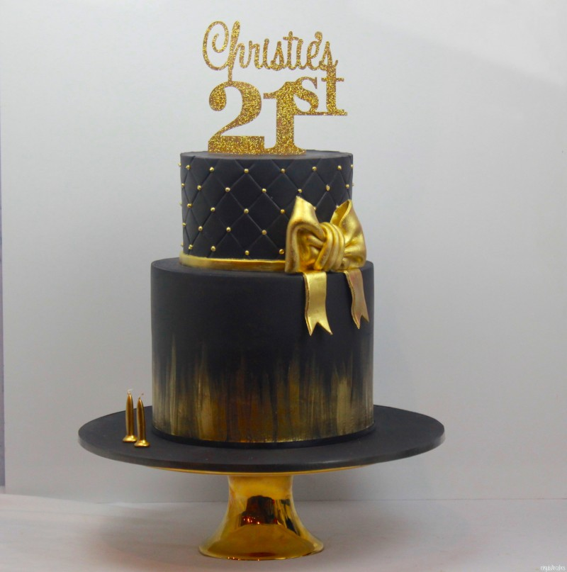 CHRISTIES BLACK AND GOLD SHIMMER