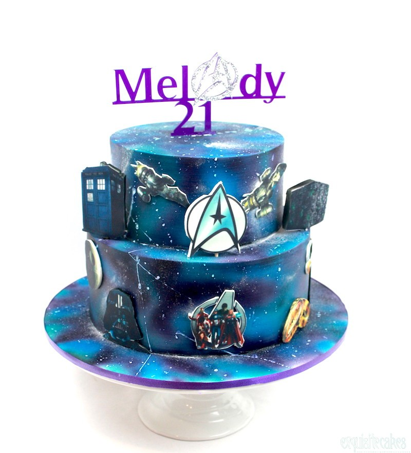 BLUE AND SILVER STAR 18TH BIRTHDAY