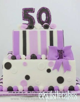 PURPLE PASSION 50TH BIRTHDAY CAKE