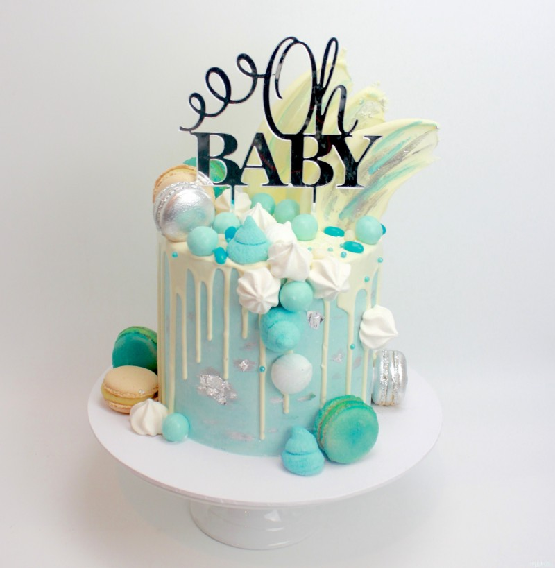Dripping Cake Ideas Baby Reveal