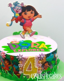 1st Dora Birthday Cake