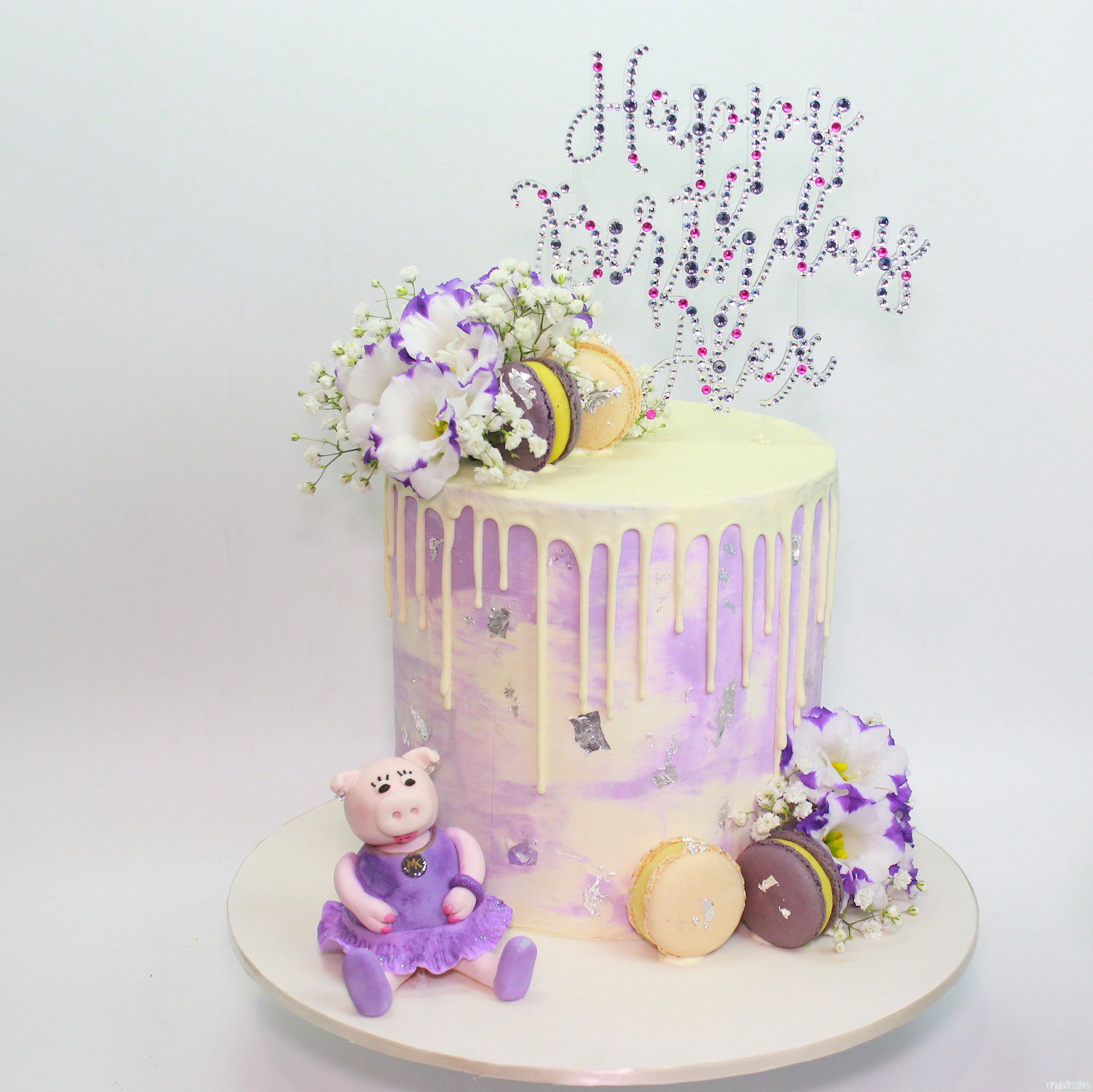 Lilac Sparkles And Figurine