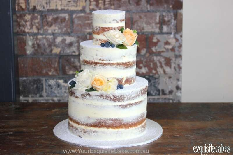 Naked Rustic Homestyle Celebration Cakes For Modern Weddings