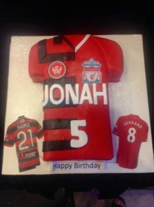 Wanderers Soccer Jersey Cake