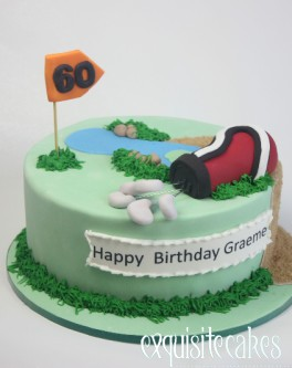 GOLF COURSE THEMED BIRTHDAY CAKE
