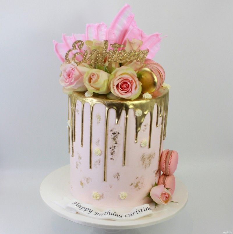 Awe Inspiring 21St Birthday Cakes Rose Gold Top Birthday Cake Pictures Photos Personalised Birthday Cards Veneteletsinfo