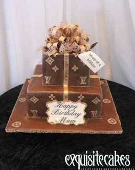 LOUIS VUITTON 2 TIER CAKE