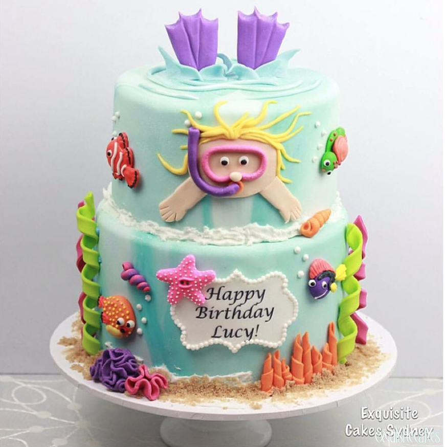 Enjoyable Under The Water Themed Cakes For All Occasions Funny Birthday Cards Online Aeocydamsfinfo