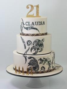 Tongan inspired 21st cake
