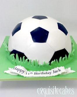 HALF SOCCER BALL CAKE