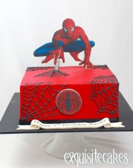 2D SPIDERMAN CAKE WITH EDIBLE IMAGING