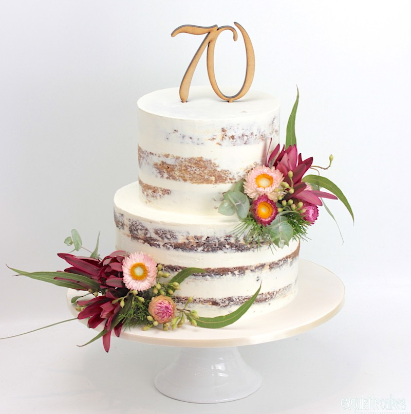 Naked, Rustic, Homestyle Celebration Cakes for modern weddings